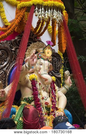 Lord Ganesha Procession Two: Procession of Lord Ganesha on Anant Chaturdashi Day.