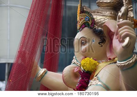 Lord Ganesha Procession Six: Procession of Lord Ganesha on Anant Chaturdashi Day.