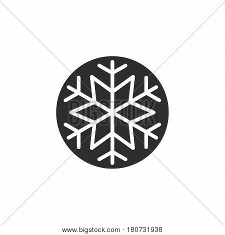 Snowflake freeze icon vector filled flat sign solid pictogram isolated on white. Snow symbol logo illustration. Pixel perfect