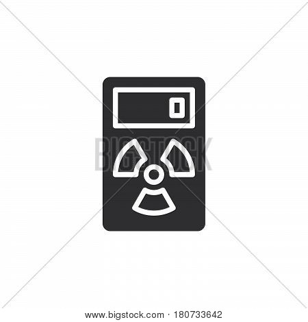 Geiger counter icon vector filled flat sign solid pictogram isolated on white. Radiation measurement device symbol logo illustration. Pixel perfect