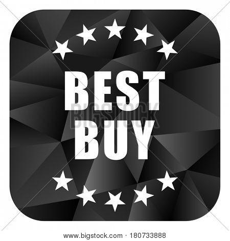 Best buy black color web modern brillant design square internet icon on white background.