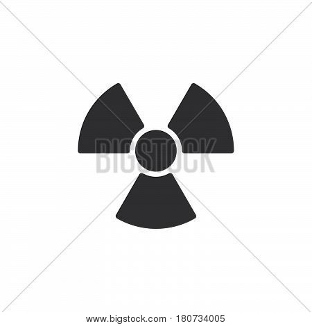Radiation Symbol icon vector filled flat sign solid pictogram isolated on white. Logo illustration. Pixel perfect