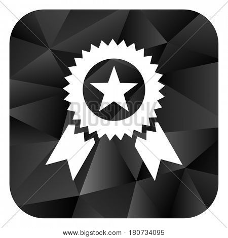 Award black color web modern brillant design square internet icon on white background.