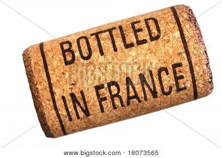 Wine Cork With Inscription Bottled In France