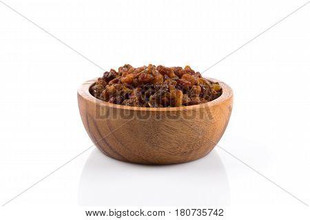 Sweet Raisins On White