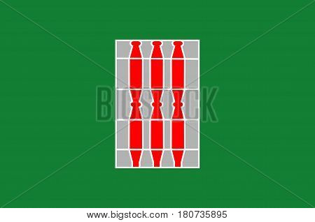 Flag of Umbria is a region of historic and modern central Italy. Vector illustration