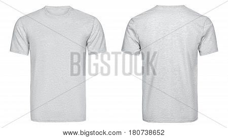 Gray t-shirt, clothes on isolated white background