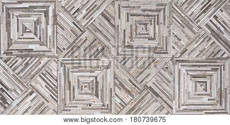 Gray travertine and white onyx hand made mosaic tiles. Texture for design