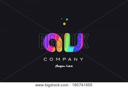Av A V  Colored Rainbow Creative Colors Alphabet Letter Logo Icon