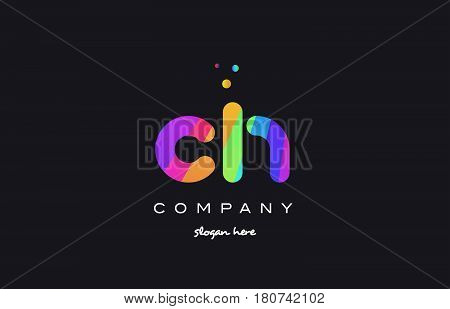 Ch C H  Colored Rainbow Creative Colors Alphabet Letter Logo Icon