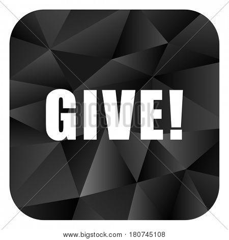 Give black color web modern brillant design square internet icon on white background.