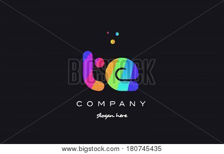 Te T E  Colored Rainbow Creative Colors Alphabet Letter Logo Icon