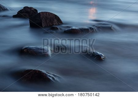 spring minimalism on the river Vuoksi, Karelian isthmus, Leningrad oblast , Russia