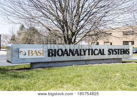 West Lafayette - Circa April 2017: Bioanalytical Systems Headquarters. Basi Provides Drug Developers