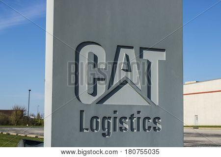 Lafayette - Circa April 2017: Caterpillar Lafayette Logistics Service Center. Cat Logistics Provides