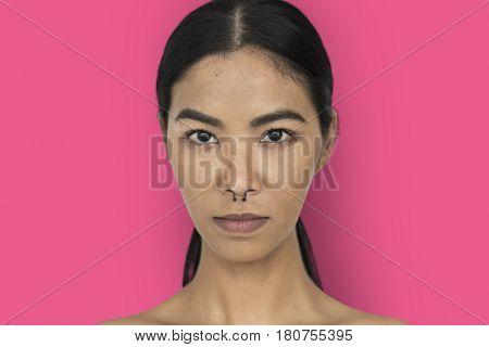 Woman Pierced Nose Ring Confidence Self Esteem Portrait