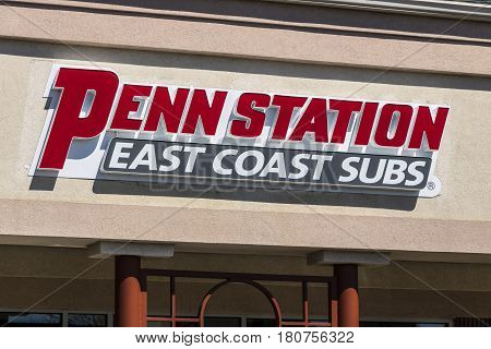 Lafayette - Circa April 2017: Penn Station Fast Food Sub Sandwich Restaurant. Penn Station Has Over