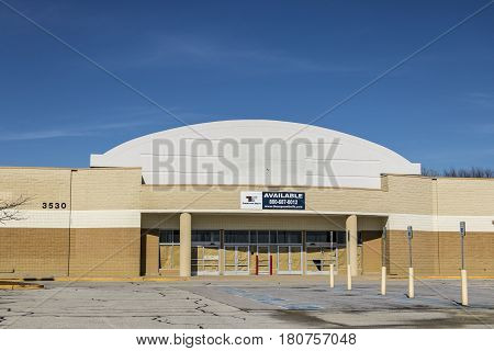 Lafayette - Circa April 2017: Recently Shuttered Big K Building. Kmart Stores Are Slated For Closing