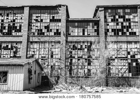 Urban Blight - Old Abandoned Railroad Factory Ii