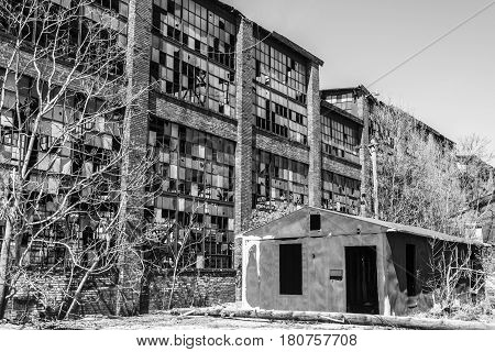 Urban Blight - Old Abandoned Railroad Factory Iv