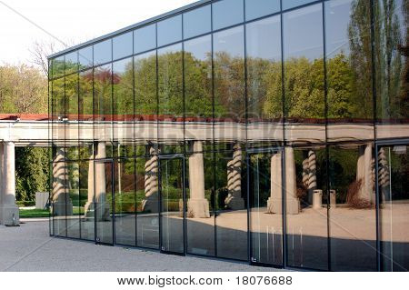 Reflection in the glass