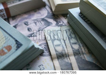 Cash ( Bundles Of Money Close Up ) High Quality