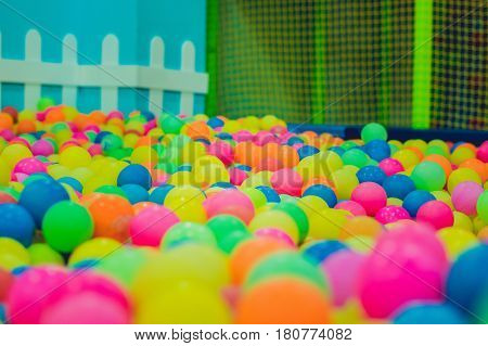 Multi-colored Plastic Balls. A Children's Playroom