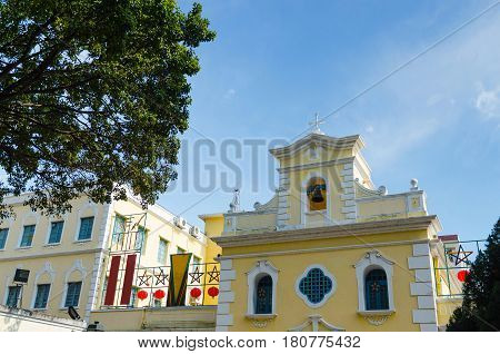 Chapel of st. francis xavier in coloane island macau china