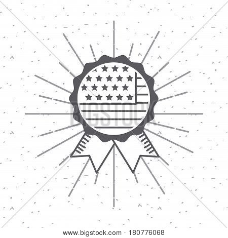 seal stamp with usa flag icon over white background. usa indepence day design. vector illustration