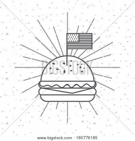 hamburger icon over white background. usa indepence day design. vector illustration