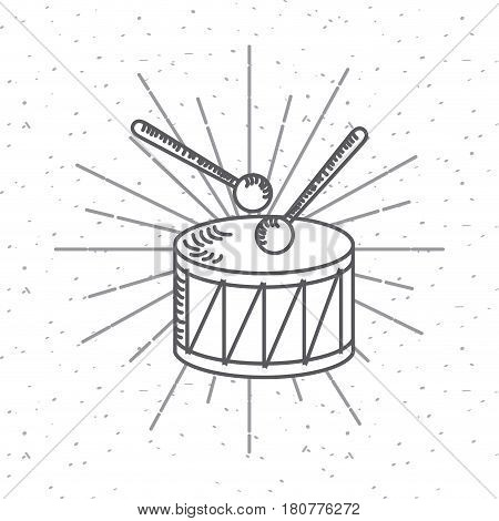 drum icon over white background. usa indepence day design. vector illustration