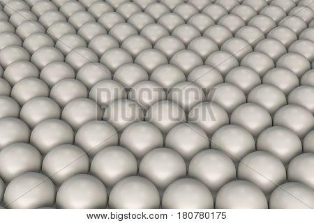 Pattern Of White Spheres