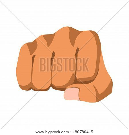 Vector illustration in realistic design of protesting gesture body language template in flat style. Human fist as mean of nonverbal communication that shows protest. Strong knuckle mitt sign