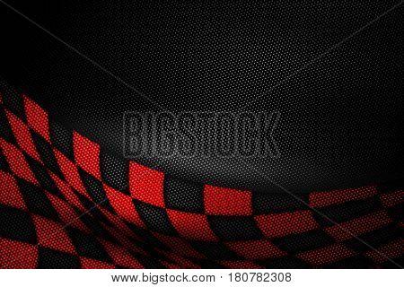 Red And Black Carbon Fiber Background.