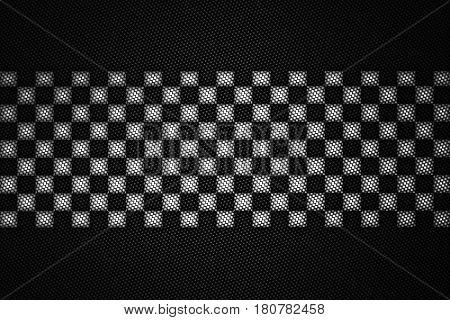 White And Black Carbon Fiber Background.