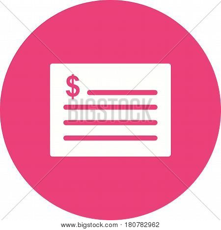 Receipt, invoice, budget icon vector image. Can also be used for business administration. Suitable for mobile apps, web apps and print media.