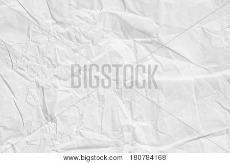 Close Up Of Wrinkle Texture Paper Shiny Sheet . Light Toned Art Paper Or Texture For Background In L