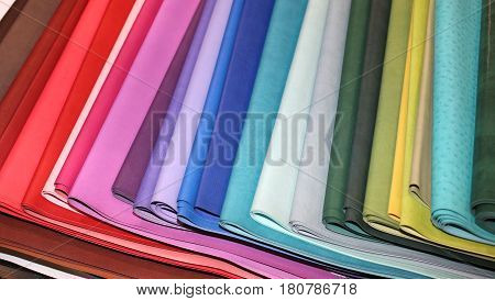 Colorful Leather For The Creations Of Fashion Clothes Of Dressma
