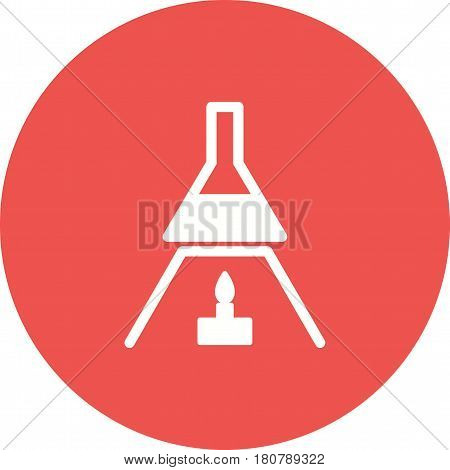 Fire, heat, tube icon vector image. Can also be used for chemistry. Suitable for mobile apps, web apps and print media.