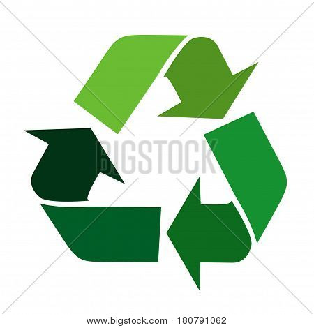 recycle signs illustration art on white background