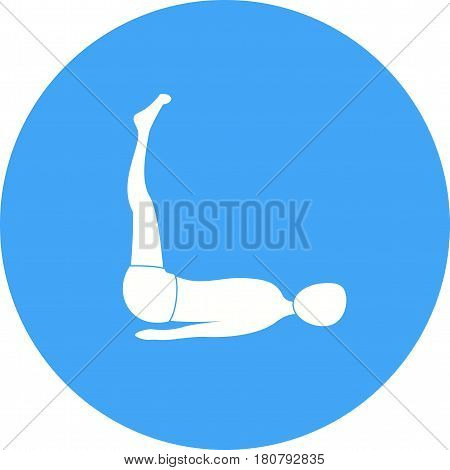 Yoga, aerobic, extended icon vector image. Can also be used for yoga poses. Suitable for mobile apps, web apps and print media.