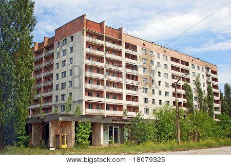 Lost and abandoned city Pripyat Chernobyl region