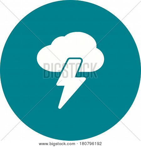 Lightning, storm, thunder icon vector image. Can also be used for disasters. Suitable for mobile apps, web apps and print media.