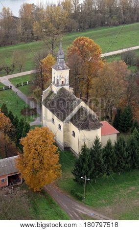 GUSCE, CROATIA - NOVEMBER 07: Parish Church of Saint Nicholas in Gusce, Croatia on November 07, 2007.