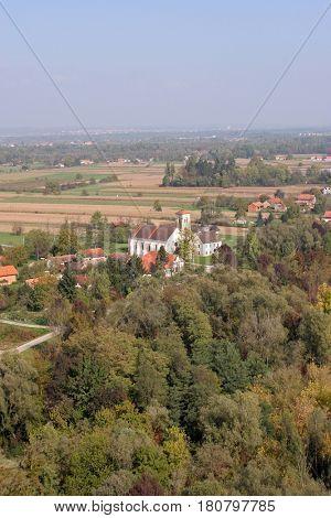 BUKEVJE, CROATIA - NOVEMBER 07: Parish Church of Saint Anthony of Padua in Bukevje, Croatia on November 07, 2007.