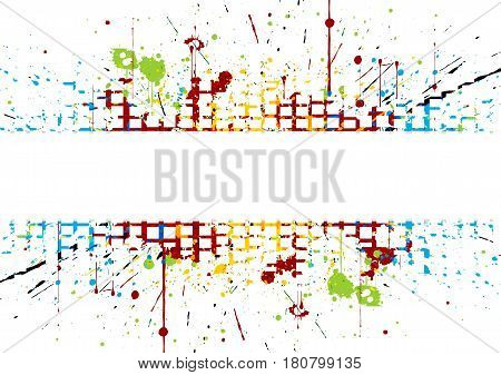 abstract Bright colored striped. splatter colored. illustration vector design