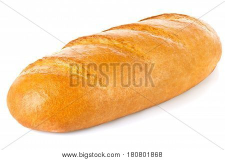 Classic fresh loaf, isolated on white background.