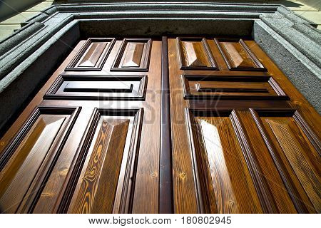 Sumirago    Knocker In A  Door Curch  Wood Italy  Lombardy