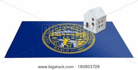 Small House On A Flag - Nebraska