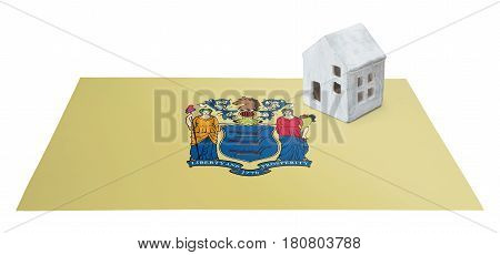 Small House On A Flag - New Jersey